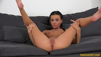 Adorable Brunette Spinner Seeks To Use Her Body To Make Money