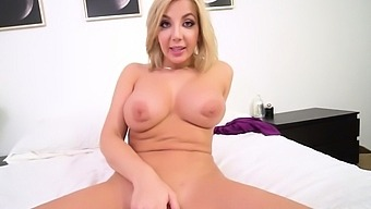 Busty European Stepmom Gives Her Stepson A Titjob And A Bj
