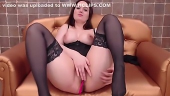 Big Ass Girl Sucks A Long Dildo And Plays With Her Pussy