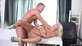 Anal For The Thin Amateur Blonde During A Job Interview