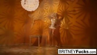 Sexy Blonde In A Retro Tease And Solo