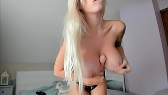 Horny Busty Blonde Babe With Big Boobs
