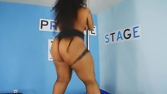 Thick Ebony Pole Dancer Shakes Her Big Ass For Your Jacking Pleasure