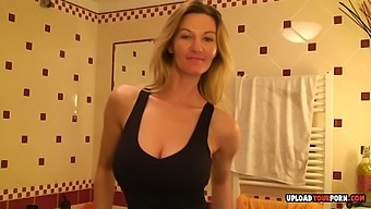Aroused Blonde Mom Records Herself While Dressing
