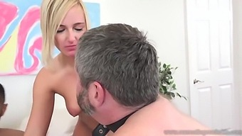 Blond Hair Babe Makes Her Cuckold Eat Cum Load - Kate England And Katie Morgan