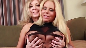 Busty Blonde Chicks Nina Hartley And Karen Fisher Have A Threesome