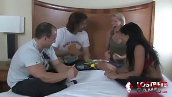 Two Couples Test Their Memory And Lose Their Clothing