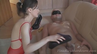 Kinky Girl Tina Kay Loves Fooling Around With A Friend On The Couch