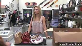 Shopping Went Wrong When This Blonde Hoe Decided To Suck Dick For New Bag