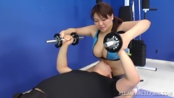 Hanging Japanese People Female Goes Great With Two Different Sportive Males