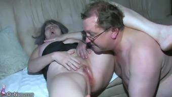 Horny Look After Shower Granny, Granny Along With Grandpa Have Sex
