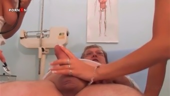 Horny Nurse And Sizzling Blonde Banging In Piss Threesome