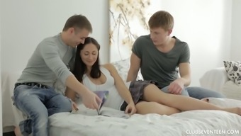 Persuading Little Blond Zarina Gets Romantic Together Guy And His Friend