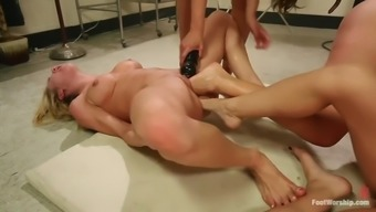 Hardcore Path Fisting Lesbian Orgy With Four Evil Whores