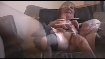 Furry Granny In Stockings Soliciting And Generating