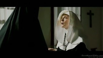 Come Across A Naughty Nun Nina Hartley That Doesn'T Mind Ingesting Moist Pussy