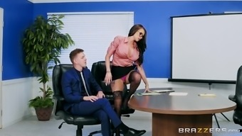 Office Vagabond Raven Bay Gets A Penis Or Her Co-Worker Among The Ass