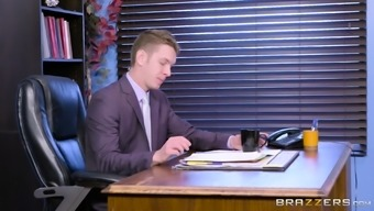 Angela White Gagged While Being Fucked Within A Boss' Business Office