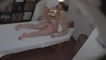 Big Tits Brown Fucks Within The Rubdown Parlor