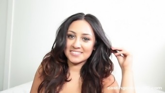 Hottie Along With Beautiful Chocolate-Flavored Hair Julia Likes Getting Boned