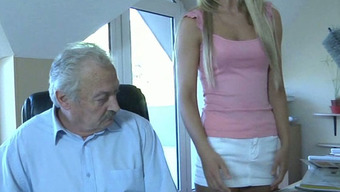 Oldman Fucks His Charming And Ridiculous Youthful Maid