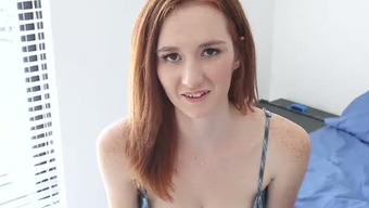 Innocent Redhead Teen Takes Her Gown Off Exposing Horny Original Human Body