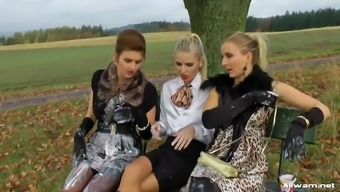 Chaotic Eurobabes Going Furious Outdoor Adventure In Horny Online Video Media Recorded.