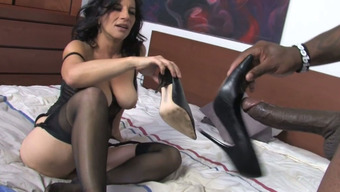 Nasty African-American Mankind Fucks Chubby Brunette Mother Melissa Monet In Mish Pose