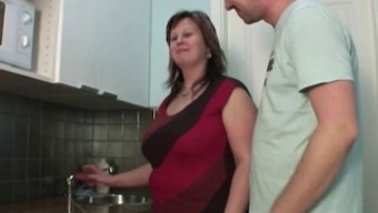 Man Fuck Mum With The Cooking