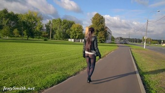 Jeny Smith Pantyhose Boasting Government Departments Stadium. Rising Prices Rear End And Community Flashing