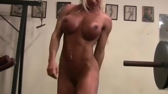 Ashlee Chambers (Bare During A Workout Session)