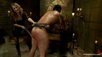 Enclosed Stud Getting Illogically Spanked Before Pegging By Girlfriend Along Side