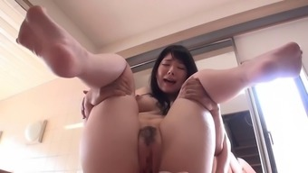 Oriental Tramp By Using Natural Boobs Gives A Blowjob And Titjob
