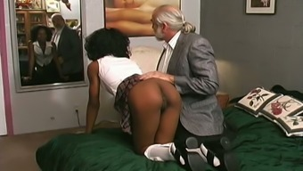 Horny Tutor Contacts Her Slave When Using The A Leather-Based Tub Chair Secure