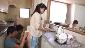 Hot Cougar Getting Her Pussy Smashed With The Food Prep