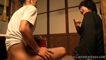 Sad Senior Newbie Oriental Delivering A Breathtaking Finger Task Thereafter Gives A Salacious Blowjob