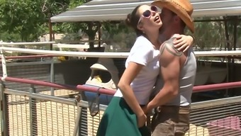 Hot Light Mothers Alana Evans Tracked Wild Slutty Gf Being Intimate With Mean Cowboy Off