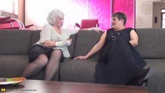 Two Grandmas And Their Apprentice Having A Bit Of Fun Simultaneously