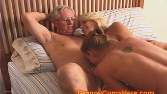 Granny And Grandpa Fuck Female Offspring And Teenager