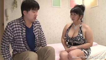 He Fucks Her Genuine Tits Thereafter Cums With Her Moist Entrance