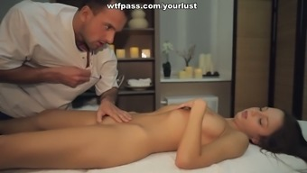 Sexy Blonde Young Adult Gets Her Pussy Fucked After Enjoyable Massage Therapy Session