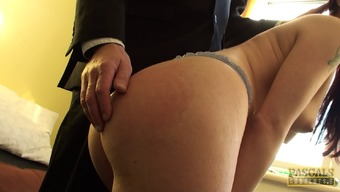 Great Butt Solo Blonde With Organic Tits Smoothly Stimulating Her Cherry