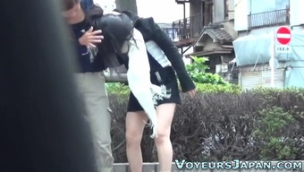 Japanese Youngster Pee Outside