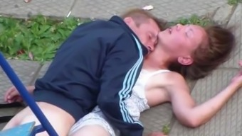 Drunk A Few Making Love In Government Departments Playground