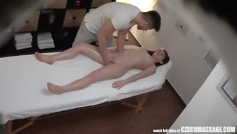 Youngster Hottie Cheating Bf On This Massage Therapy Counter