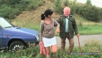 Gorgeous Toddler Seduces Grand Father On The Road