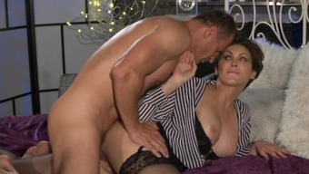 Mother Workplace Female In Stockings Wants Steel Solid Penis Deep Down Her