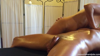 Heated Bare Joyful Ending Massage Therapy From Athletic Date