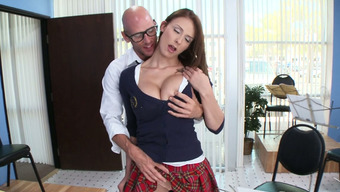 Big Tits Baby Madison Bear Contributes The Flute And Face Fucks Large Cock Of Their Tutor