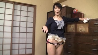 Grow Older Japanese People Woman Of The Residence Contributes With Herself